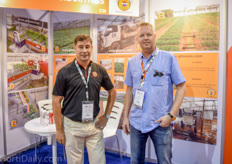 Frank Hermans and Luuk Runia of Greenhouses Solutions Asia / Asian Perlite - currently very busy with enhancing tropical greenhouse growing in Malaysia and surrounding countries.