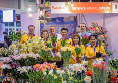 As always, flowers draw a lot of attention in Asia. Especially at the joint booth of New Fashion Flowers, Van den Bos Flowerbulbs and Van der Laan Tulips.