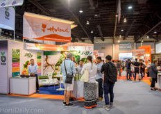 Substrates were well represented at Horti Asia. Jiffy explained that it is one of the first steps that growers are interested in to improve.