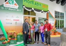 Shan Halamba of Riococo was visiting the Horti Asia together with his mother and operations managers.