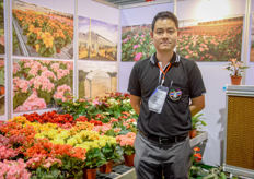 Phanupong Ongsuwan of Kaset 32, a 6 hectare Anthurium and Begonia grower that has pad & fan cooled greenhouses in Chiang-Rai, Thailand.