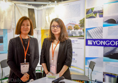 Zoe and Emily Zhang of Yongor screens where very happy with the Vietnamese investments in greenhouse production.