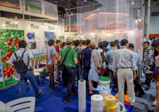 Many interest for the adaptive irrigation units of Sercom at the booth of Agri Solutions Asia.