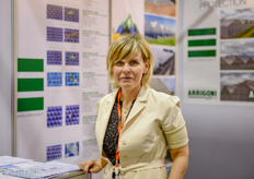 Patrizia Giuliana from Arrigoni horticultural fabrics was exhibiting for the first time and was very pleased with the event so far.