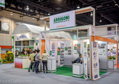 The booth of Arrigoni.