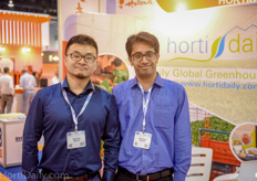 Suomi Cao and Amit Ganeti of Imersys Insecticides.