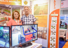 Marion and Thijs Koning of Konflex. They supply flexible high pressure and temperature hoses for Barel's steam disinfection units.