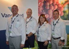Gene Coughlin, Dirk Winkelmann, Denise Smith and Shawn Caldwell with Vanguard Direct. Vanguard Direct acts as the sales arm for the company's ranches in Peru as well as some third-party growers.