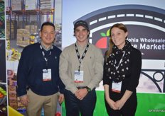 Jose Flores, Jared Donabedian and Kelsey Rose with John Vena, Inc, which is based in the Philadelphia Wholesale Produce Market.