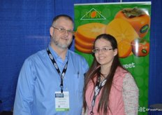 Gary Tozzo and his daughter Kaitlynn in the booth of MOR USA.