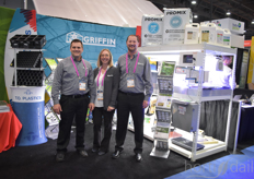 Griffin also invited various suppliers to participate in their booth. In this photo Matt Needham with Bioworks (left) and Noel Yan with TO Plastics. In the middle is Duffey Clark with Griffin.