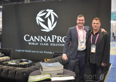 CannaPro supports MMJ growers in the designing and building of their facility, following the strict requirements to get the pharmaceutical grade. In the photo George Dickinson & Jon Himelfarb.