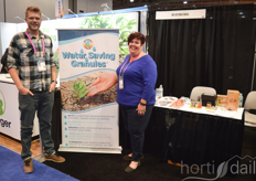 Casey Etheredge and Amy Schneider of HBI International(Water Saving Soil Granules)