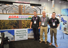 Adam Pound, Kent Wright and Daniel Monk with AgraTech