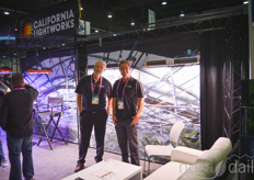 Craig Adams and Mike Taylor of California Lightworks (grow LEDs with pest detection)
