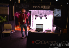 "Christoph Shubert with CompLED featuring the turnable ""Cropter"" light system"