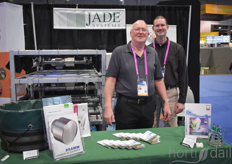 Jan Koenekoop Scott Fender with Jade Systems brought the modular screening installation, updated with a new product.