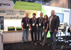 Agnetix launched their new water-cooled LED. Shown by Troy Robson, Ihor Lys, Jordan Miles, Cristina Rodrigues & Nick Pefzel.