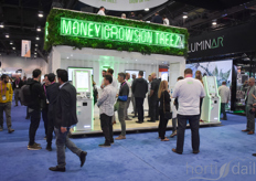 On the exhibition floor many people interested in investing in the cannabis industry were present and the ATM's definitely caught their attention