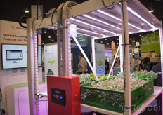 The company partnered up with Montel Inc. and showed the options of their LED-solutions within vertical farming systems.