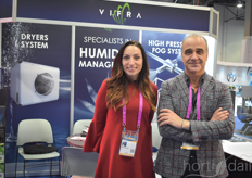Vincenzo Russo and Antonella Migliozzi of Vifra joined in to explain more about the high pressure fog systems, an important tool for cannabis growers.
