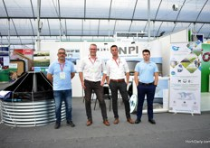 Paulo de Carvalho, Arjen van Dijk, Erik van Geest and Goncalo Tavares (also known as Mega Tank Master) of NPI, exhibiting at the show for the first time.