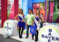 Carlos Ponce Macias of Bayer with their models.