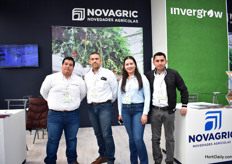 Michelangel Pnce, Servio Cotaponce, Liliana Noriega and Luise Fernando Gaxiola of Invergrow. This greenhouse manufacturer is known as Novagril in Spain.