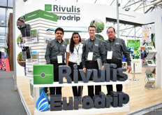 Nolbert Castro, Mayra Colmenero, Adam Dunford and Edgar Soto of Rivulis and Eurodrip. This company supplies all kind of low volume irrgation and is specialized in drip tapes and drip liners.Last year, these companies merged and they have factories in 16 countries, including one in Leon, Mexico. A new factory is about to open in a few weeks.