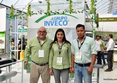 Sergio Rivera, Inti Rodriguez and Felippe Xanxni of Grupo Inveco, a Mexican distributor of several greenhouse products.