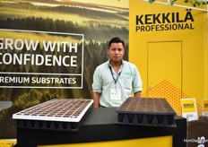 Kekkila is one of thei products Grupo Inveco supplies in Mexico. On the picture Felippe Xanxni.