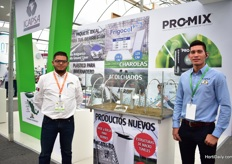 Francisco Negrete Lopez of Tunelcrop and Daniel Solis Barreras of Icapsa. Icapsa. They distribute several products, including Frigocel and Pro-Mix.