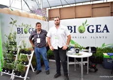 Alfonso and Arthur Jimenez of Biogea Nursery Plants.