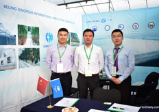 Lu Shushan, Mr Zhang (President of the company) and Frank John of Kingpeng were exhibiting at the show for the first time. This Chinese greenhouse manufacturer is already exporting to over 60 countries and is now exploring the possibilities to supply Mexican growers, they are exhibiting for the first time.