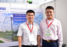 Honjie Leng and Gery Zhang of XTB are exhibiting at the show for the second time, offering their services to the Mexican growers.