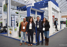 Glory Lu (on the righ) of Rimex Invernaderos, a Mexican greenhouse builder, received some visitors; Raul Martinez of Inagro, Violeta Ruiz and Carlos Mena of Agroinsuma.