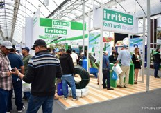 Busy at the booth of Irritec.
