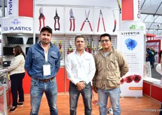 Mauricio Olvero , Gerardo Perez Jamaica and Agur Arredondo of KBW Supply. They are a distributor of T.O. Plastic, Liventia and Berger.