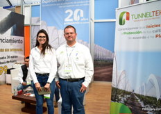 Iuon Valencia and Jesus Yoguez of Tunneltek. Next to supplying Mexican growers, they also export to the US and Chile.