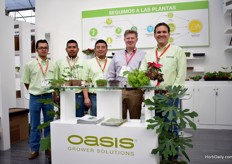 The team of Oasis Grower Solutions. From their factory in Monterrey in Mexico, they supply to growers all over Latin America.