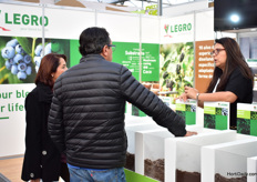 Visitors interested in the products of Legro.