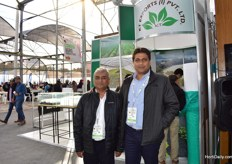 Hemant Desai and Dhilan Kanakai of KT exports, from India.