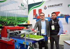 Andrea Bochini of Urbinatii and Juan Manuel Solorsano of Plasticos Mallos de Villageras, the distributor of the Urbinati machines. The seeder and the seeder line belongs to Urbinati's most sold products in Mexico.