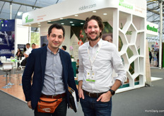 Dimitrios Doukas of Plastika Kritis, who was visiting the show, and Boy de Nijs of Ridder.