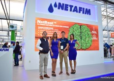 Charlee Rubio of Yeah Brand, who does the marketing for Netafim, together with Hector Kelly and their models.