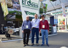 Jordi Gus and Miquel Ribera of Conic, that produces greenhouse machines together with Ignacio Calderon of El Oasis Invernaderos, who produces seedlings and the distributor of the Conic machines in Mexico.