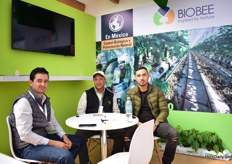 Emilio Flores, Jorge Salgado and Migueel Fonseca of Biobee exhibiting at the Israeli pavillion.