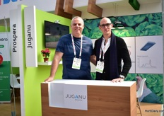 Ofer Finkelstein and Iaki Vergana of Juganu, at the Israeli pavillion.
