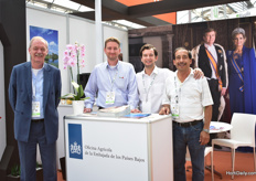 Jean Rummenie, Frank Hoogendoor, Marko Teodosijevic and Carlos Hernandez of The Netherlands Embassy. This year, the Dutch pavillion hosted 32 Dutch companies, which made it the biggest international pavilion at the Expo.