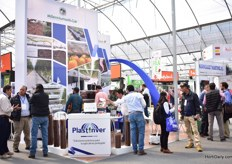 Busy at the booth of PlasInver.